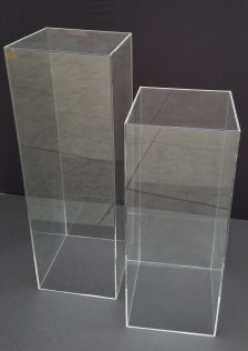 Clear Acrylic Pedistals       12 x 12 - Available In 30
