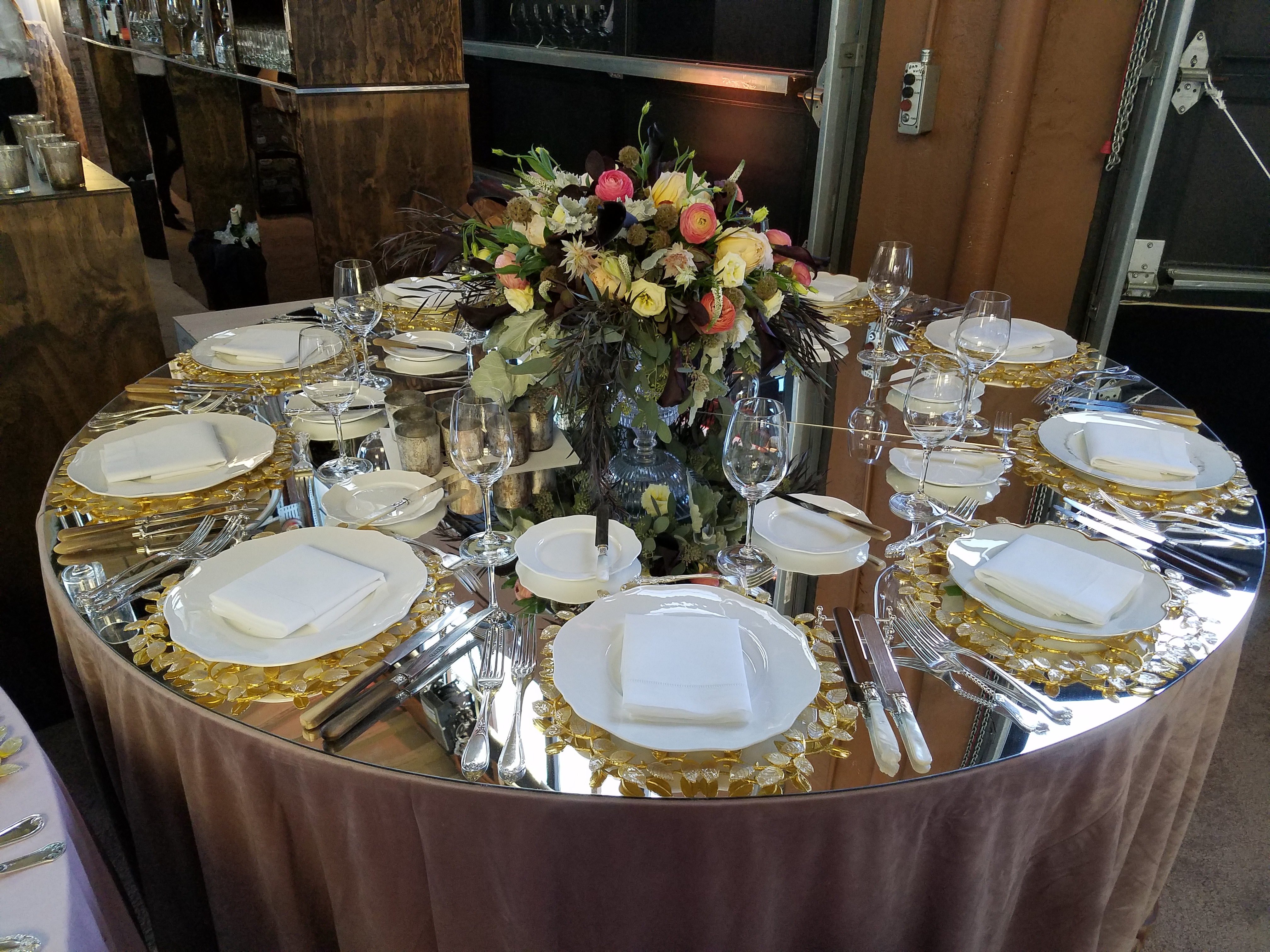 Marvelous 72 Inch Round Mirrored Acrylic Table Top