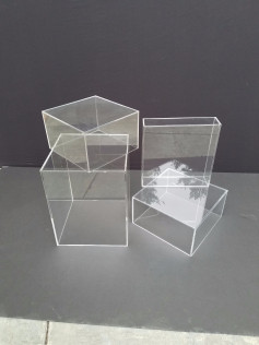 Clear Acrylic Cubes       Various Sizes Available       *Call For Price And Availability