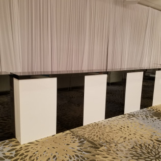Black and White Acrylic Bar